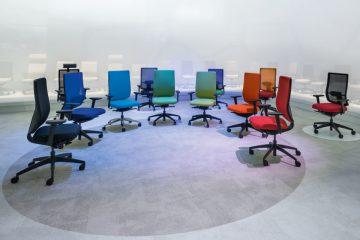 Axplock av Sedus kontorsstolar från utställningen. Orgatec 2016